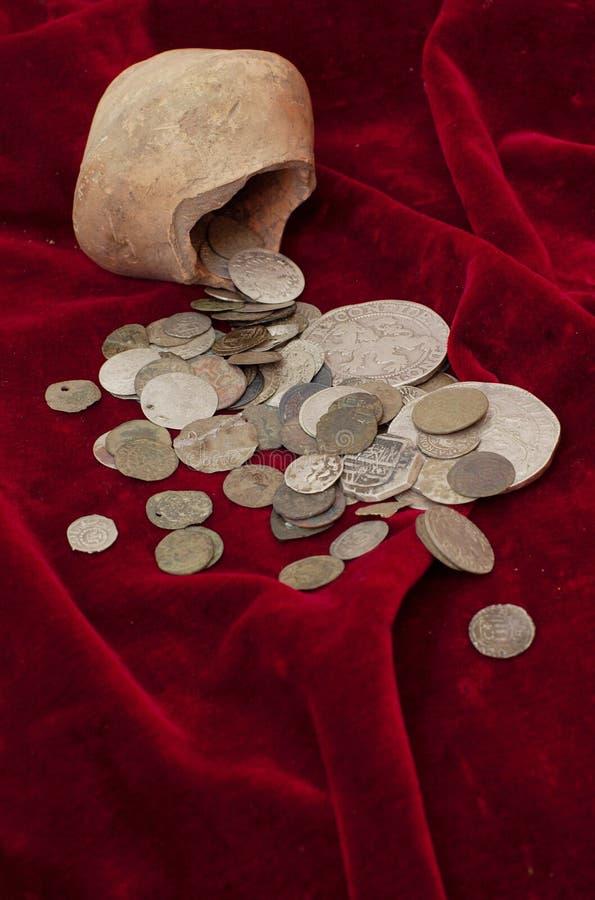 Monete antiche fotografia stock