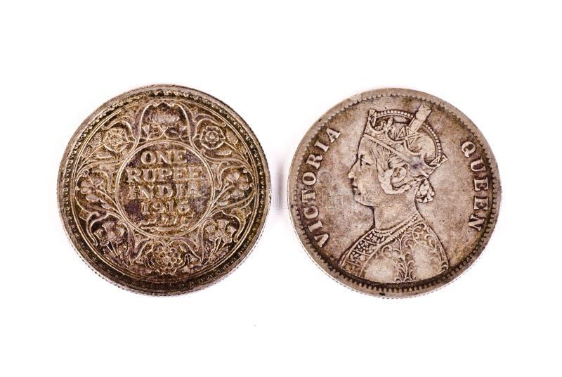 Monete antiche dell'India immagini stock