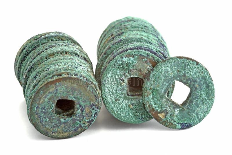 Monete antiche della porcellana immagine stock