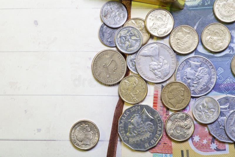 Monete australiane fotografie stock