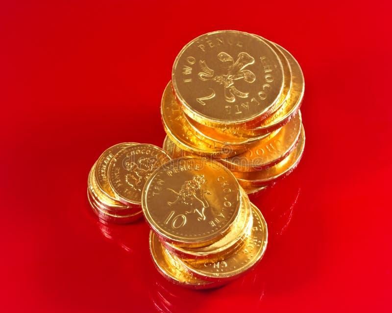 Monete Britanniche Del Cioccolato Fotografia Stock