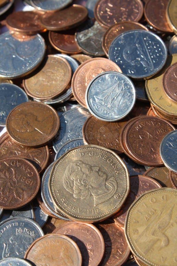 Monete canadesi immagine stock