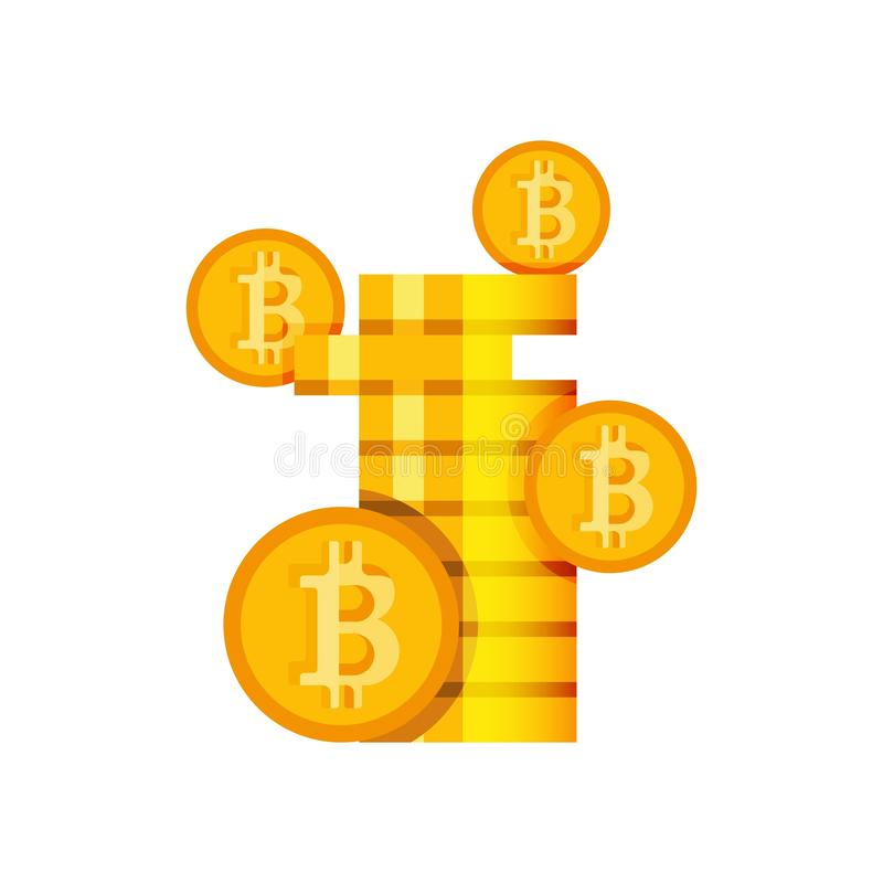 Monete cripto dei soldi per estrazione mineraria di vendita d'acquisto commerciale illustrazione vettoriale