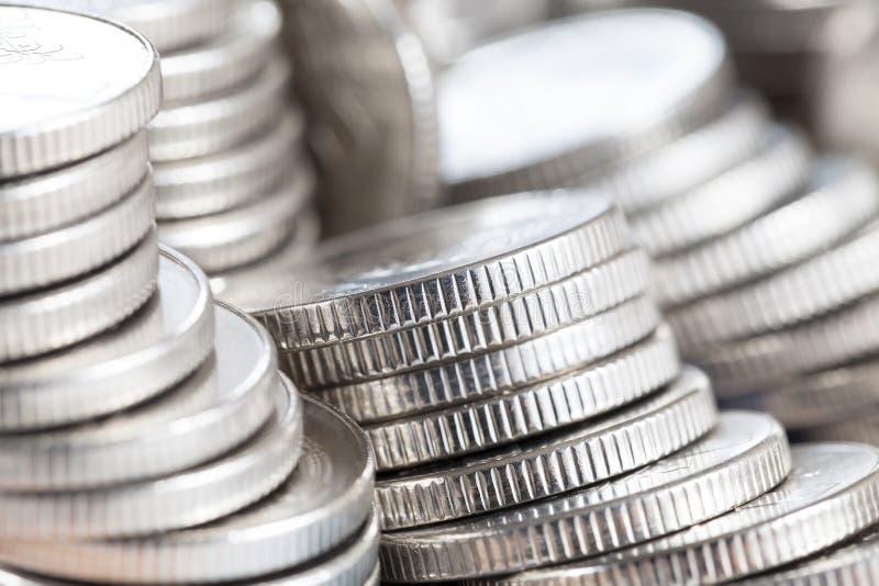 monete d'argento s fotografia stock libera da diritti