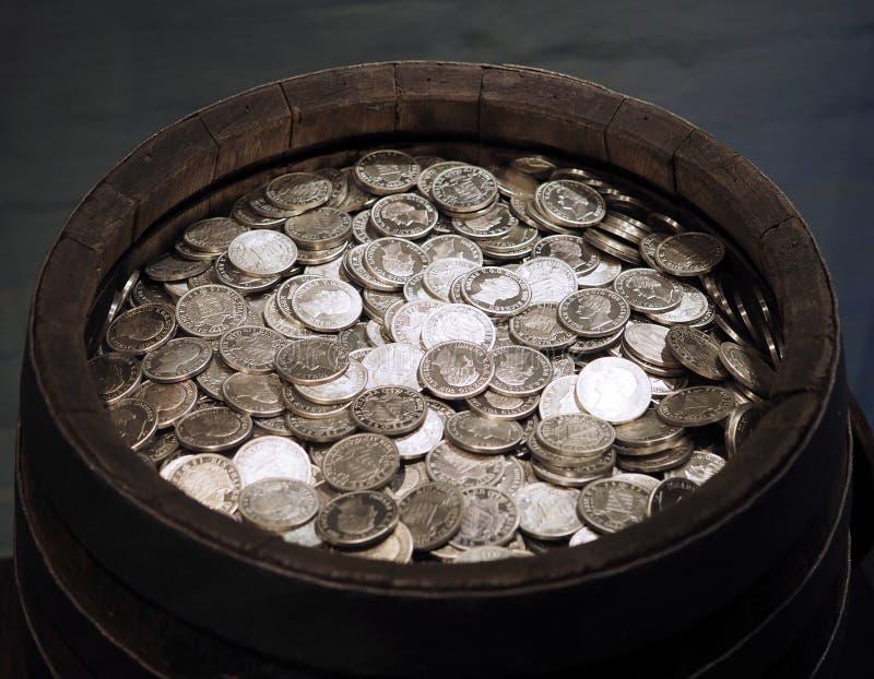 Monete d'argento storiche fotografie stock libere da diritti