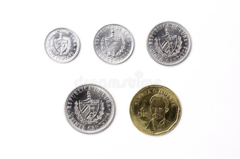 Monete da Cuba fotografia stock