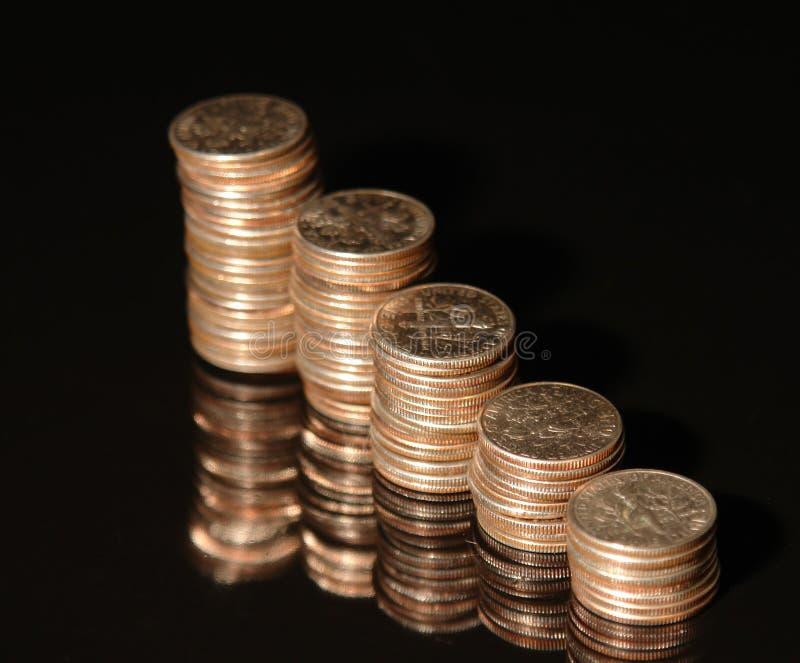 Monete da dieci centesimi di dollaro II fotografia stock