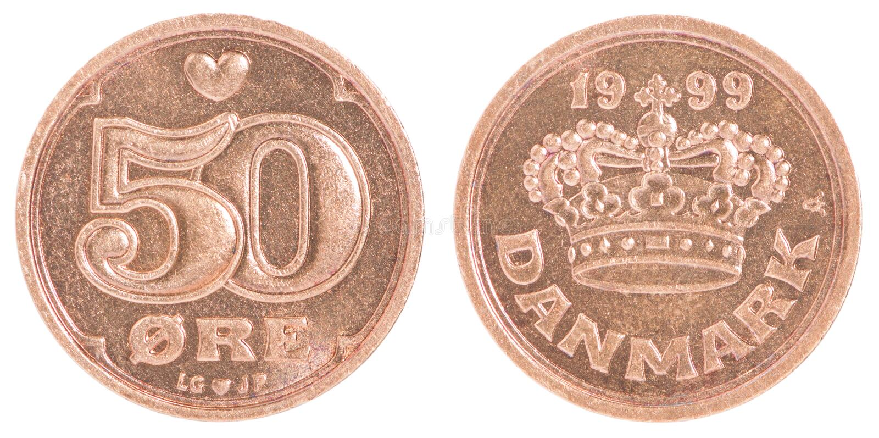 Monete danesi fotografia stock