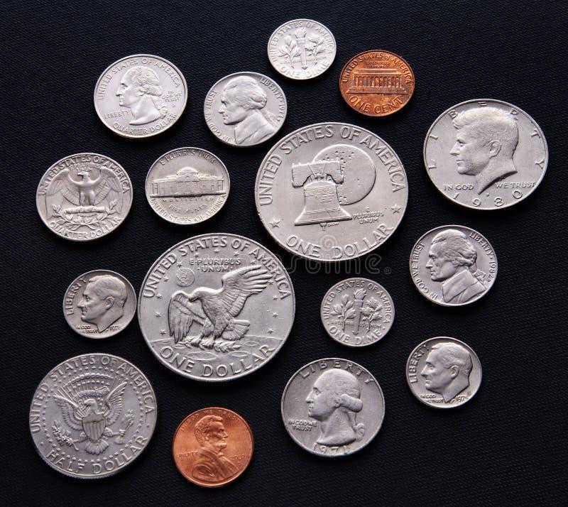 Monete degli S.U.A. immagine stock libera da diritti