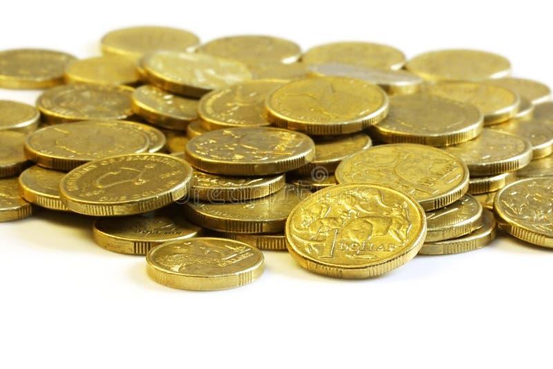 Monete del dollaro australiano immagine stock