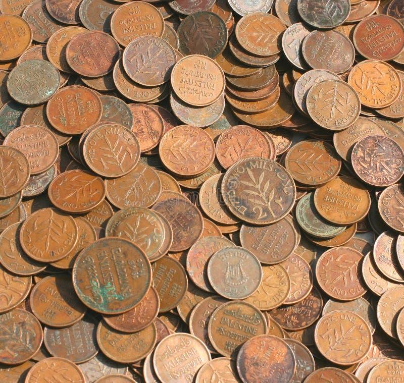 Monete del Palestine fotografie stock libere da diritti
