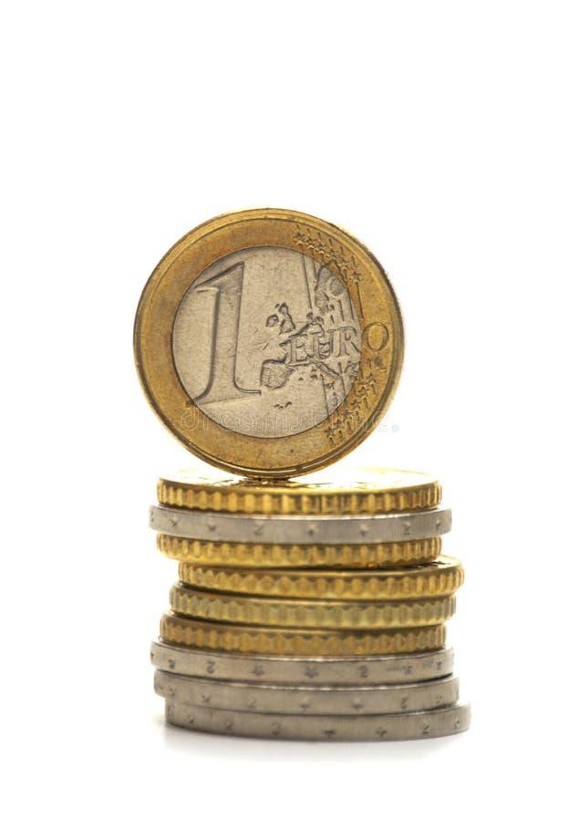 Monete dell'Eu fotografia stock libera da diritti