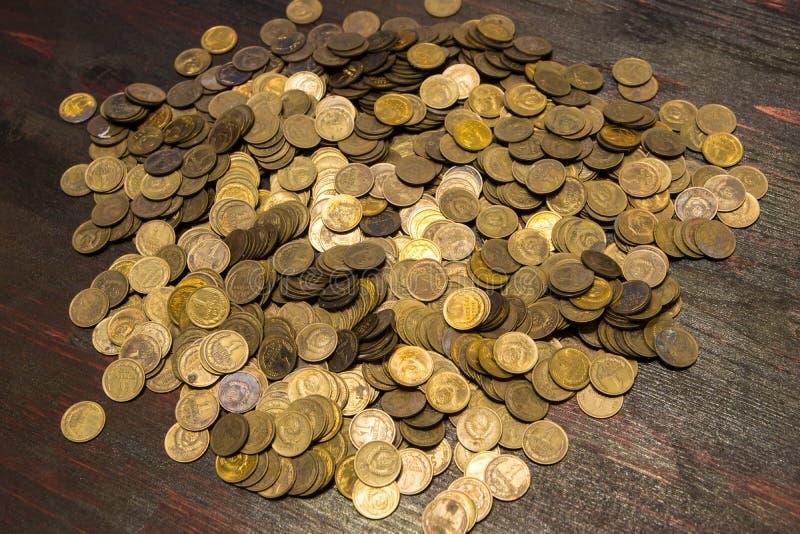 Monete dell'URSS Anni differenti di produzione e bollo differente immagine stock libera da diritti