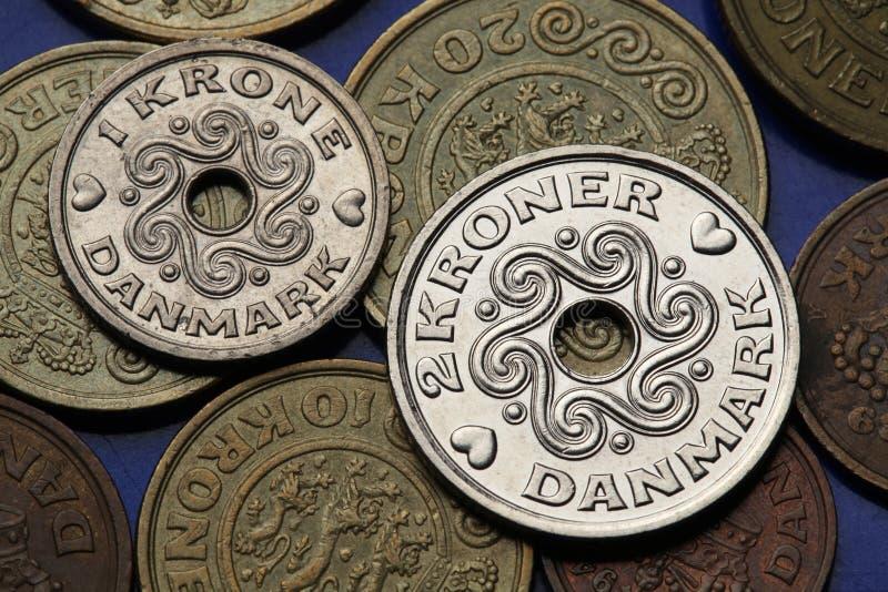Monete della Danimarca immagine stock libera da diritti