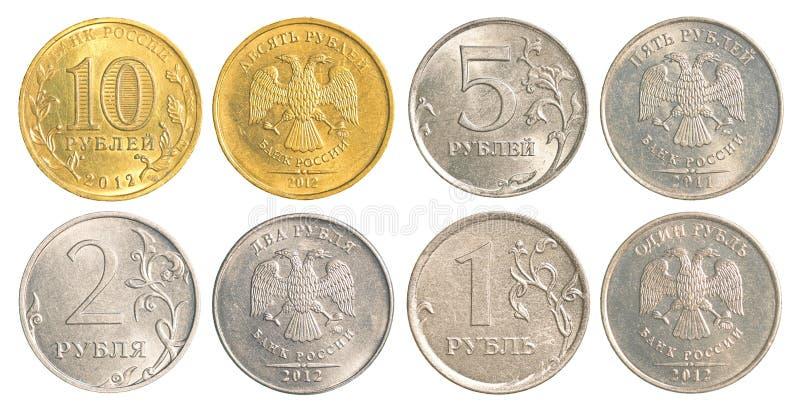 Monete di circolazione della Russia fotografia stock