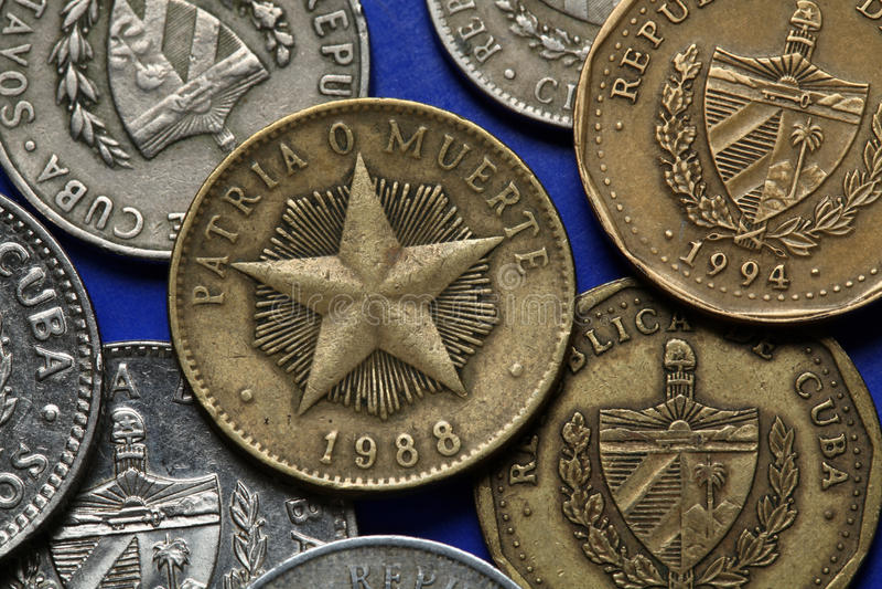 Monete di Cuba fotografia stock