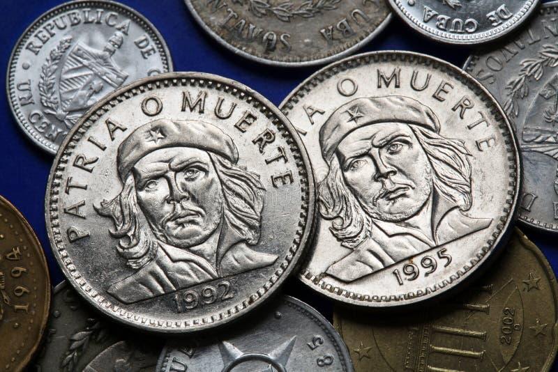 Monete di Cuba Ernesto Che Guevara fotografia stock libera da diritti