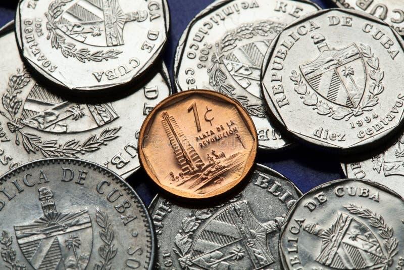Monete di Cuba Peso convertibile cubano fotografie stock