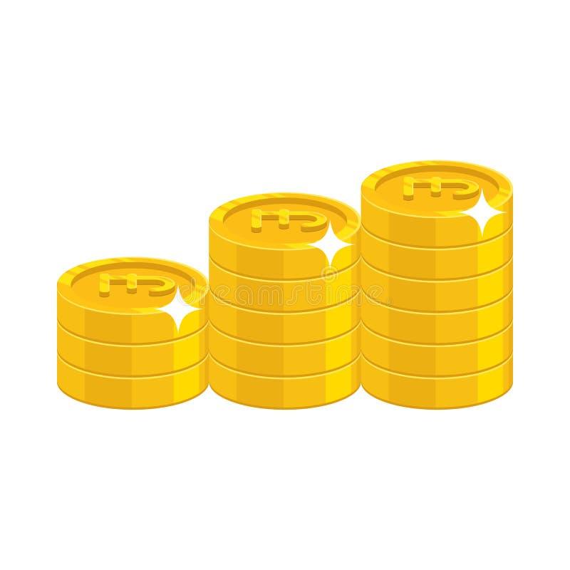 Monete di libbra dell'oro royalty illustrazione gratis