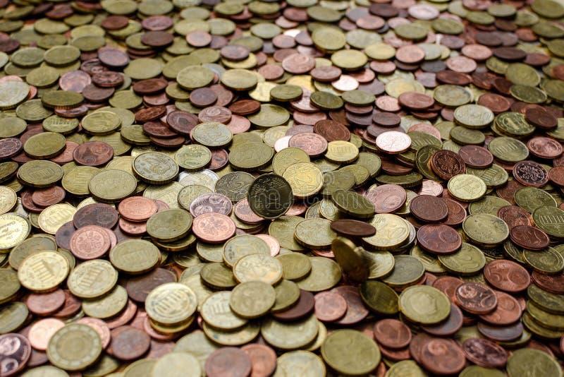 Monete di rame del centesimo fotografie stock libere da diritti