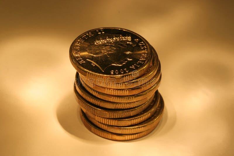Monete dorate immagine stock libera da diritti