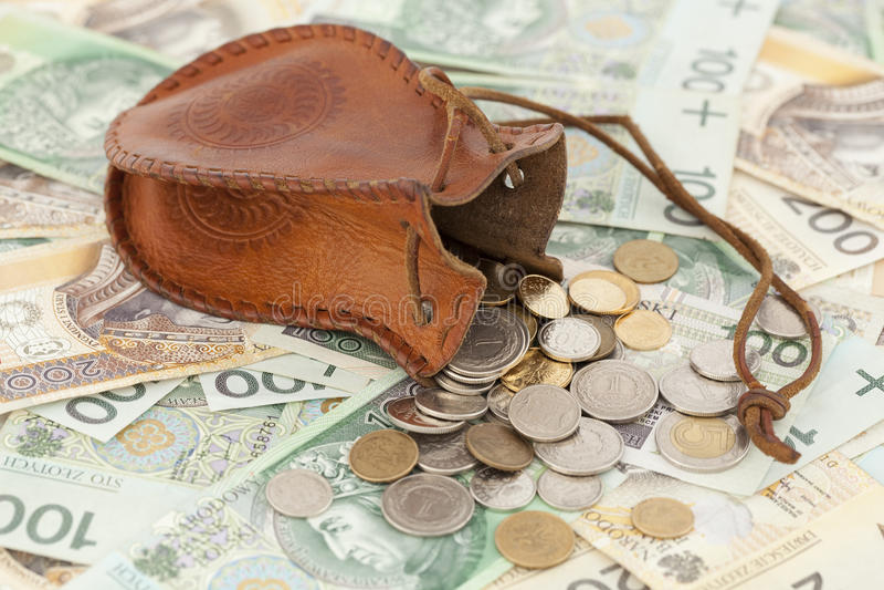 Monete E Banconota Fotografia Stock