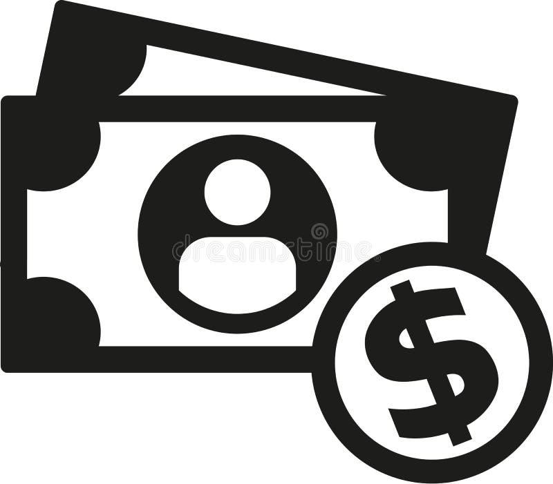 Monete e nota del dollaro dei contanti illustrazione vettoriale