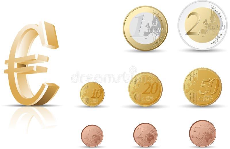 Monete euro royalty illustrazione gratis