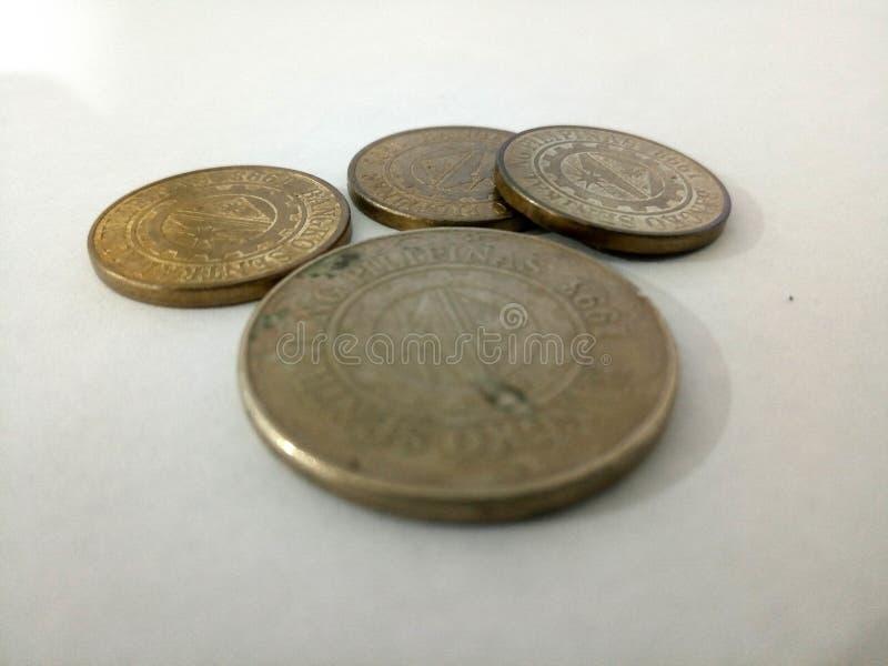 Monete filippine immagine stock libera da diritti