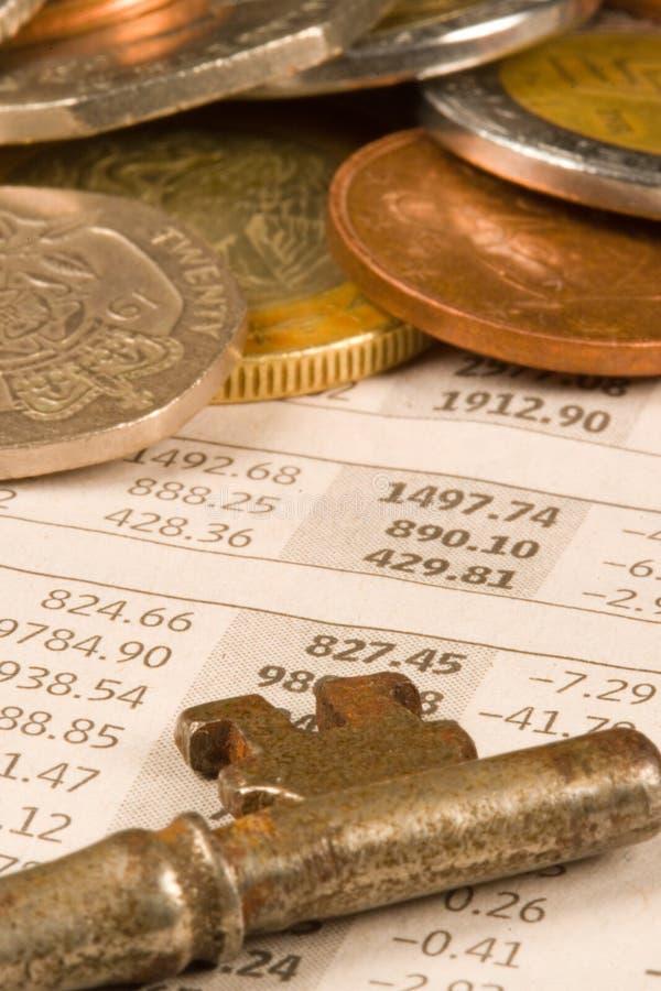 Monete finanziarie immagini stock