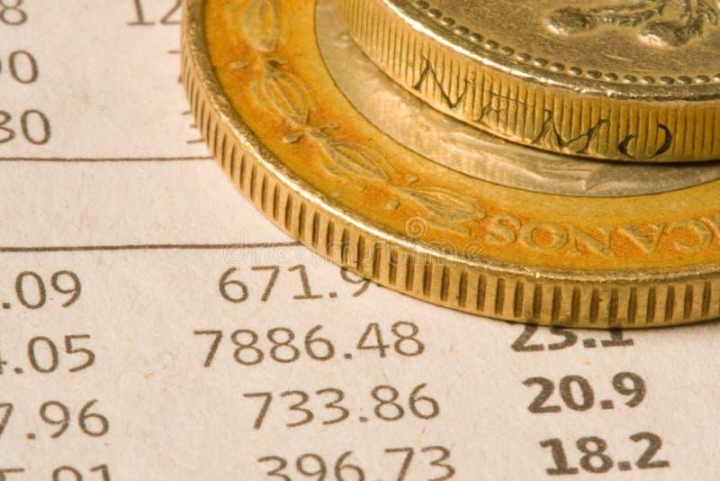 Monete finanziarie immagine stock libera da diritti