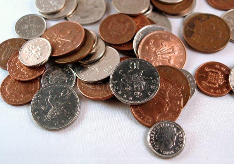 Monete inglesi, Regno Unito immagine stock libera da diritti