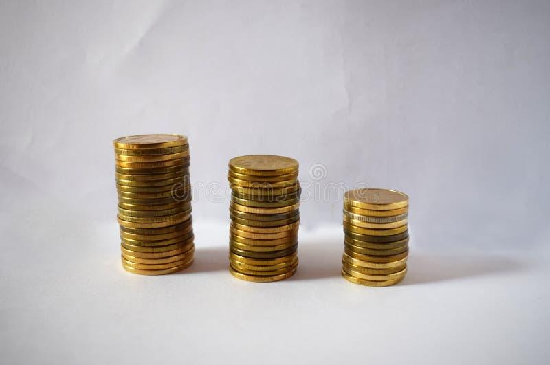Monete serbe - dinari 3 fotografia stock