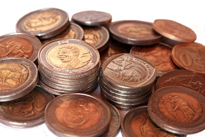 Monete sudafricane immagine stock