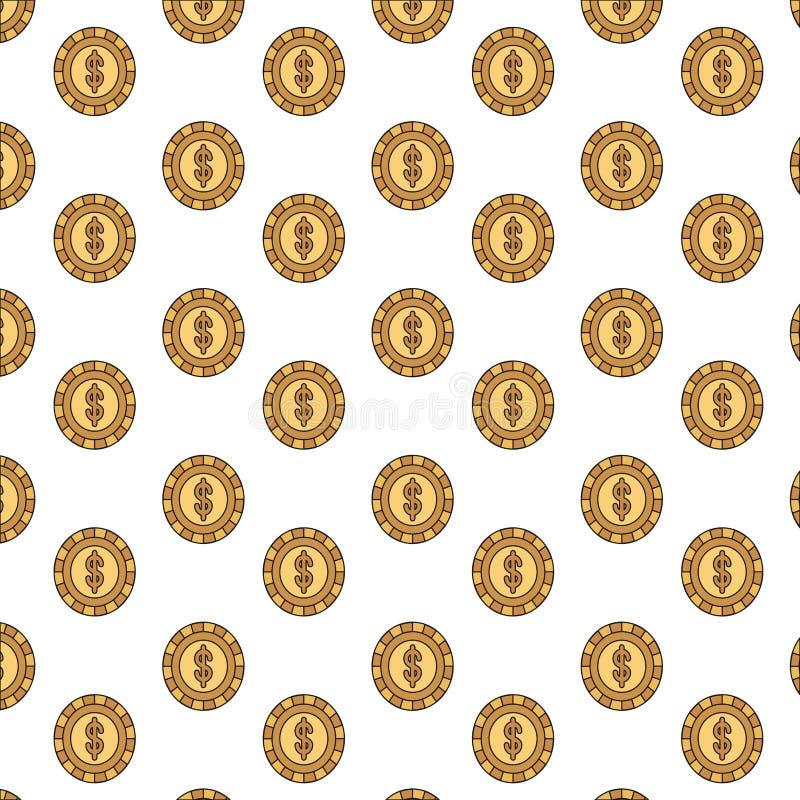 Monete variopinte del modello della siluetta con il simbolo del dollaro dentro royalty illustrazione gratis