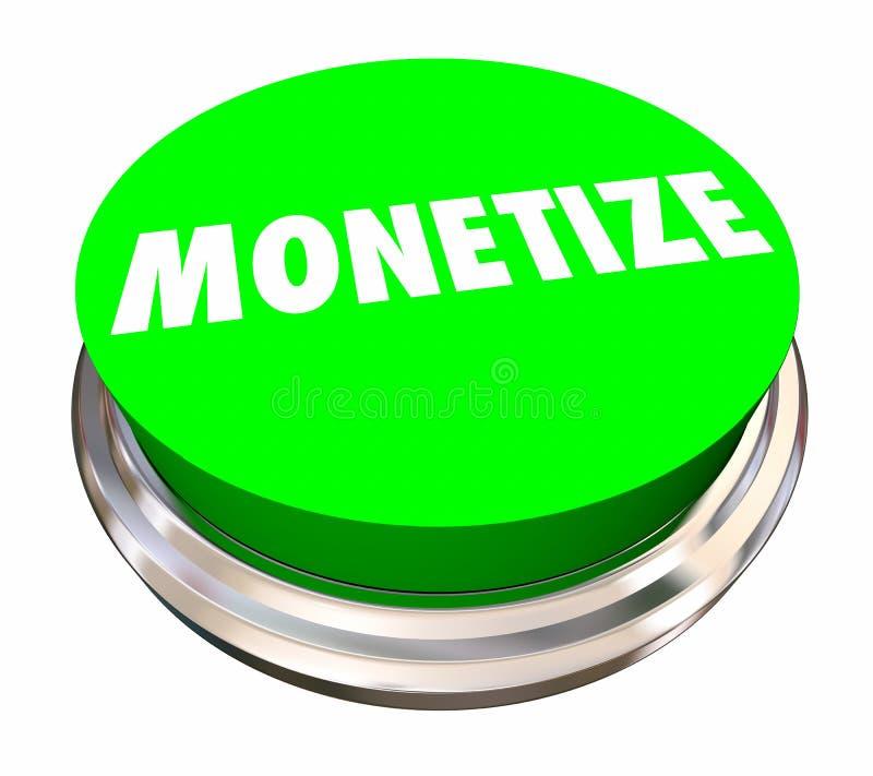 Monetize el botón hacen el corriente de ingresos del dinero ilustración del vector