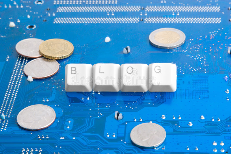 Monetize seu blogue e ganhe o dinheiro imagem de stock