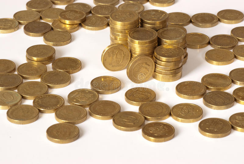 Download Monety obraz stock. Obraz złożonej z sterty, bank, wymiana - 13330827