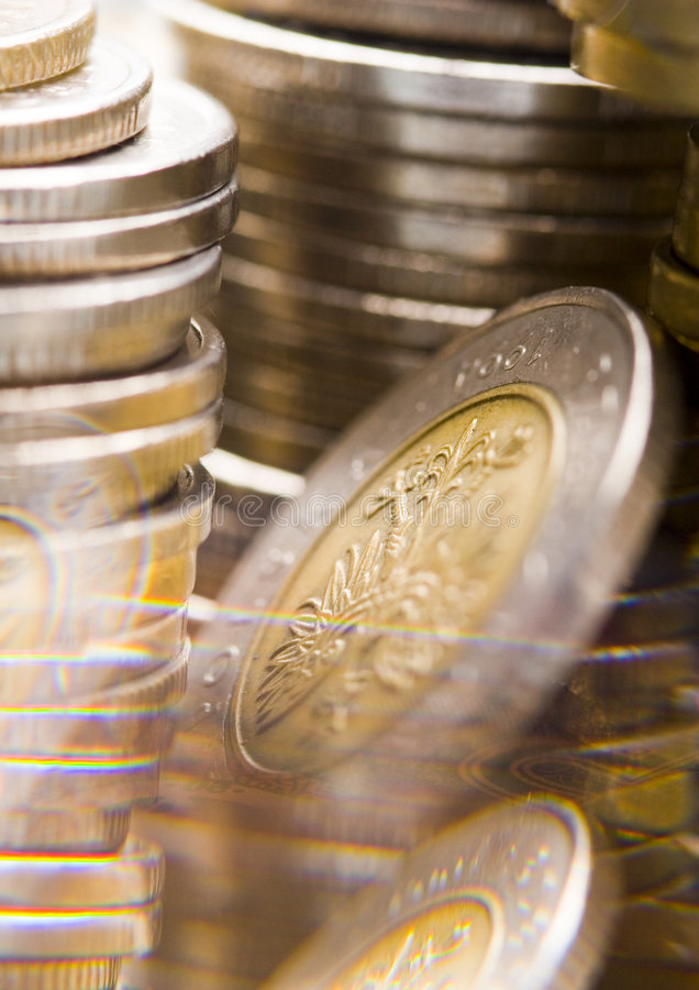monety. zdjęcie royalty free