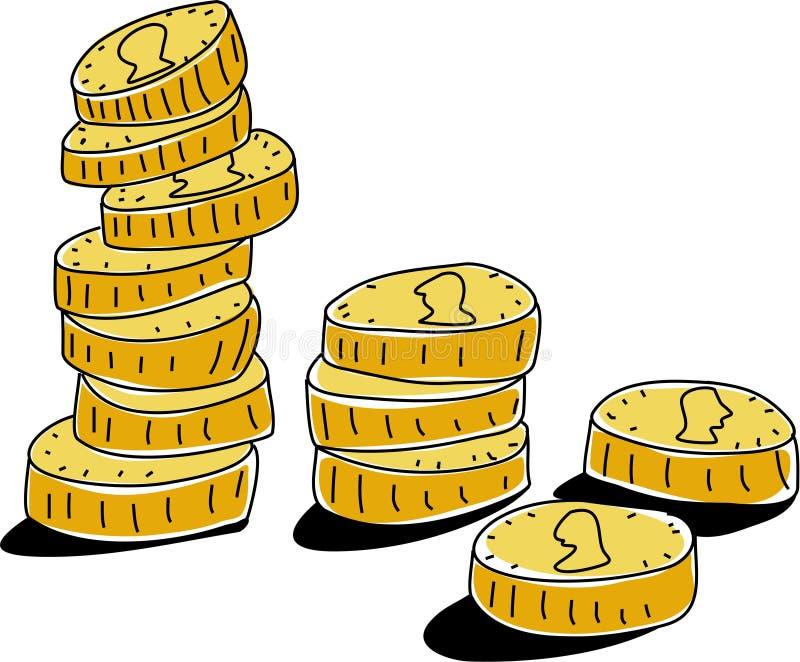 monety. ilustracji