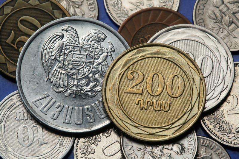Monety Armenia zdjęcia stock