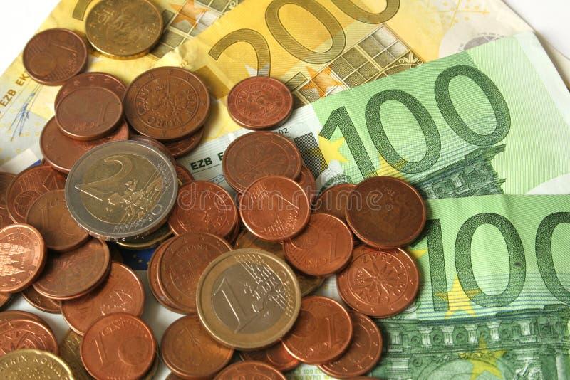 monety banknotów euro obrazy royalty free