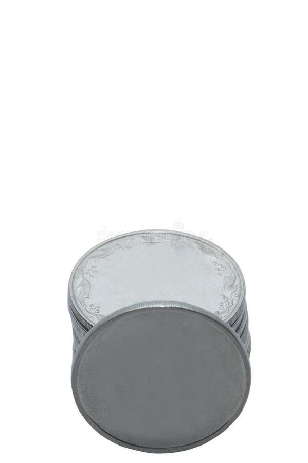 monety białe tło zdjęcia royalty free