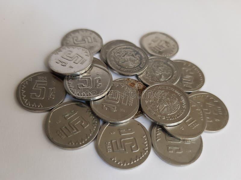 monety centy meksykańscy peso, savings i kolekcja, obrazy royalty free