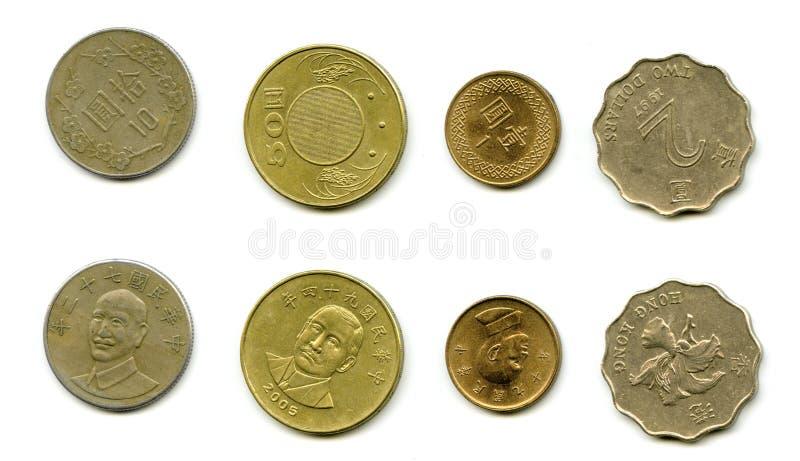 monety do tajwanu obraz royalty free