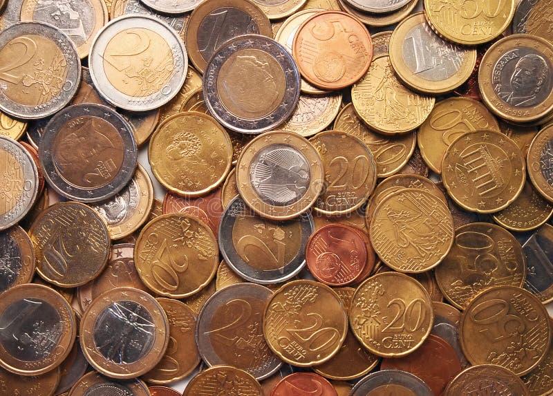 monety euro zdjęcia stock