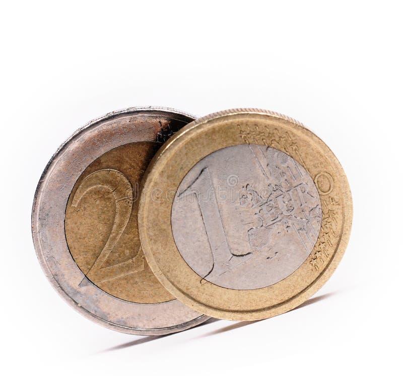 monety euro fotografia stock