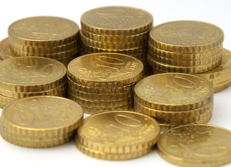 monety europejskim waluty zdjęcie royalty free