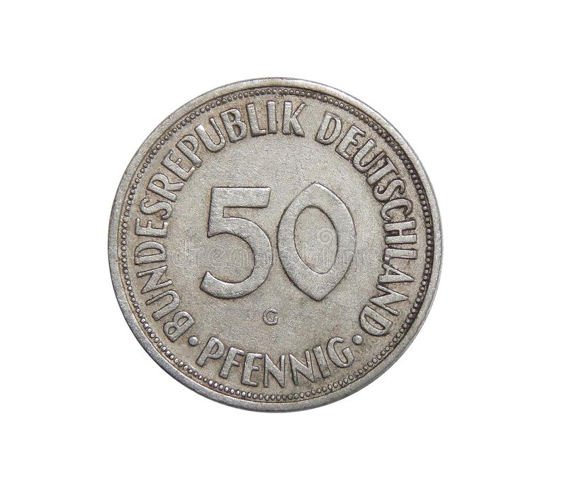 Monety 50 fenig Niemcy zdjęcie stock