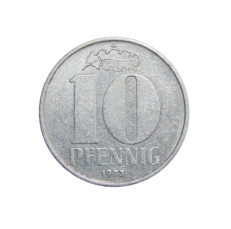 Monety 10 fenig Niemcy - GDR zdjęcie royalty free